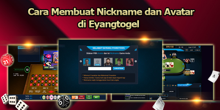 Cara Membuat Nickname dan Avatar di Eyangtogel